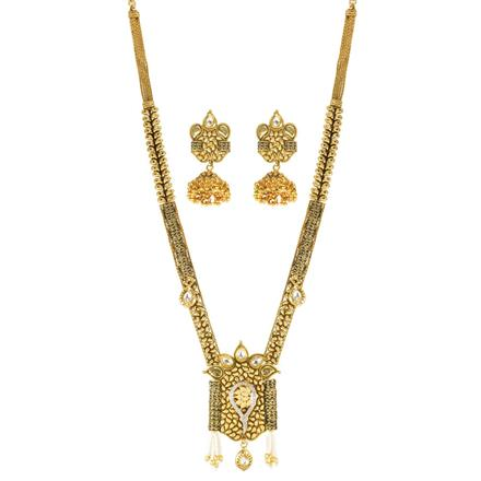 11586 Antique Long Necklace with gold plating