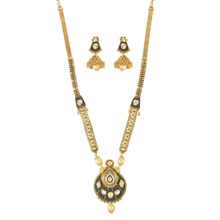 11587 Antique Long Necklace with gold plating