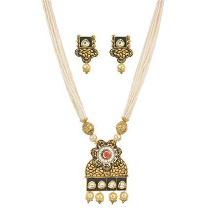 11590 Antique Mala Pendant Set with gold plating