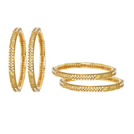11593 Antique Classic Bangles with gold plating
