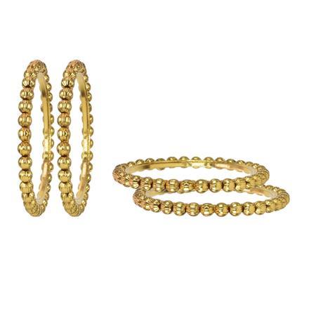 11594 Antique Plain Gold Bangles