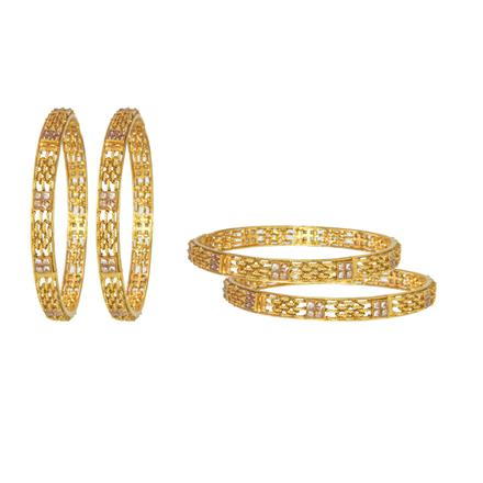 11596 Antique Classic Bangles with gold plating