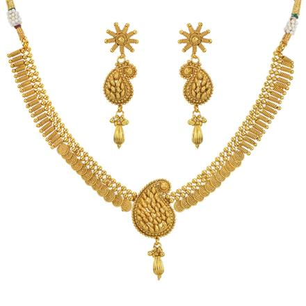 11598 Antique Plain Gold Necklace