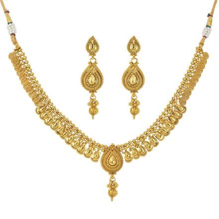 11599 Antique Plain Gold Necklace