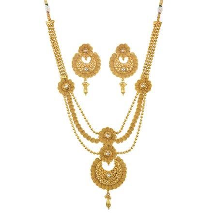11600 Antique Long Necklace with gold plating