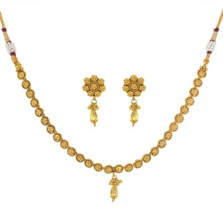 11601 Antique Delicate Necklace with gold plating