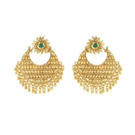 11605 Antique Chand Earring with gold plating