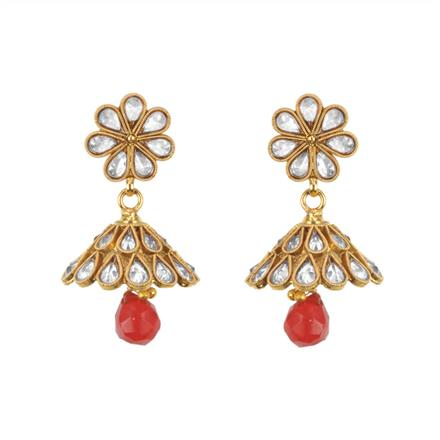 11606 Antique Jhumki with gold plating