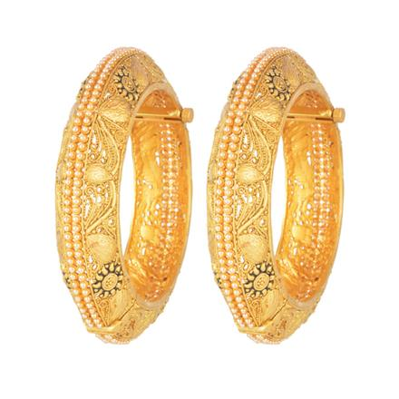 11607 Antique Openable Bangles with gold plating