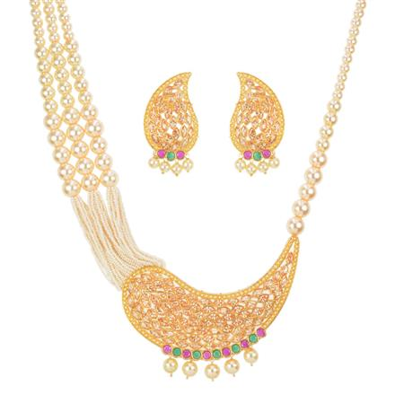 11620 Antique Mala Pendant Set with gold plating