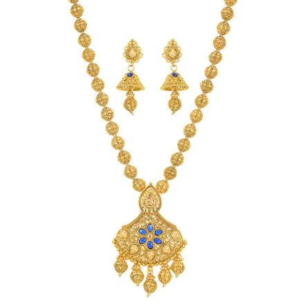 11621 Antique Mala Pendant Set with gold plating