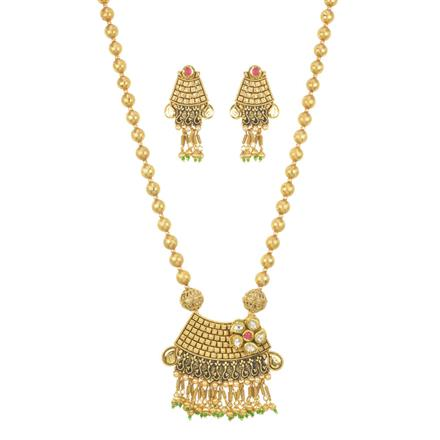 11622 Antique Mala Pendant Set with gold plating