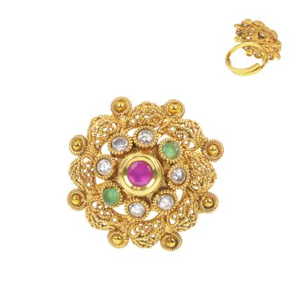 11624 Antique Classic Ring with gold plating