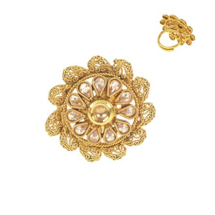 11627 Antique Classic Ring with gold plating