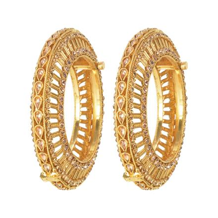 11631 Antique Openable Bangles with gold plating