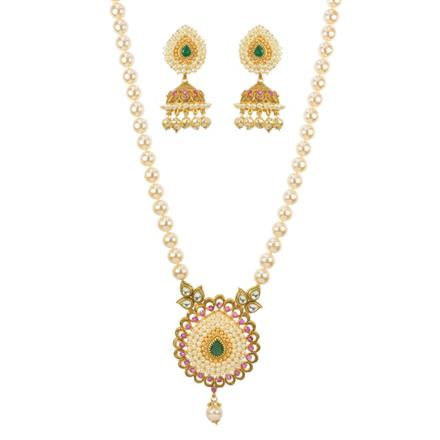 11633 Antique Mala Pendant Set with gold plating