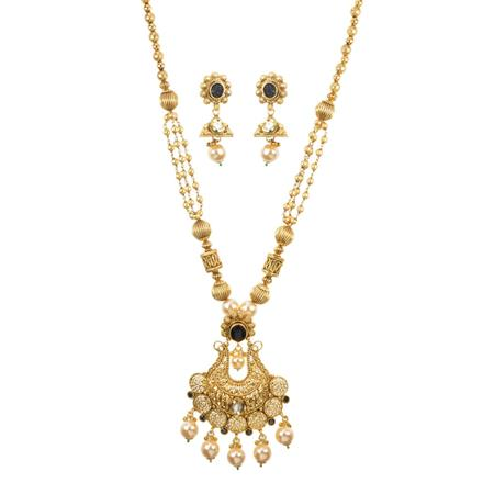 11634 Antique Mala Pendant Set with gold plating