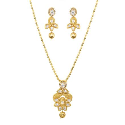 11635 Antique Delicate Pendant Set with gold plating