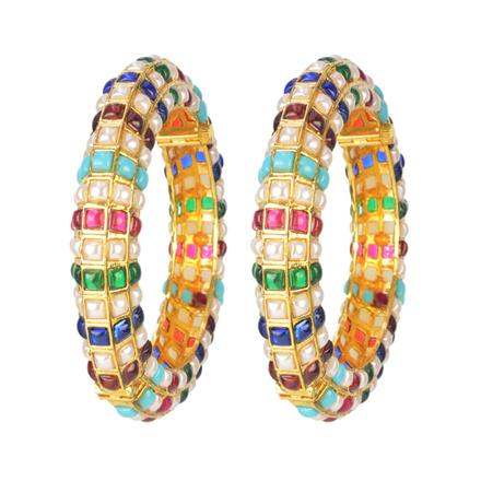 11640 Antique Openable Bangles with gold plating
