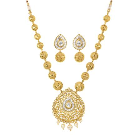 11641 Antique Mala Pendant Set with gold plating