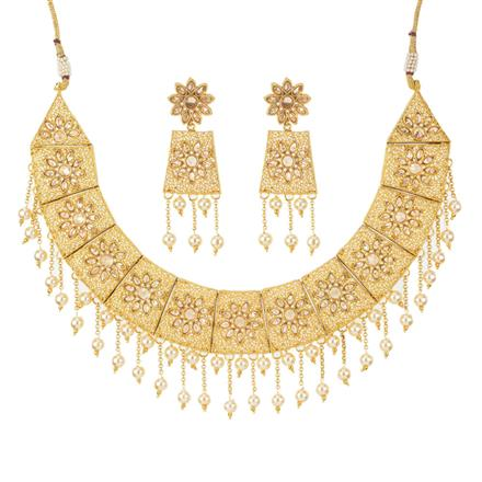 11642 Antique Classic Necklace with gold plating