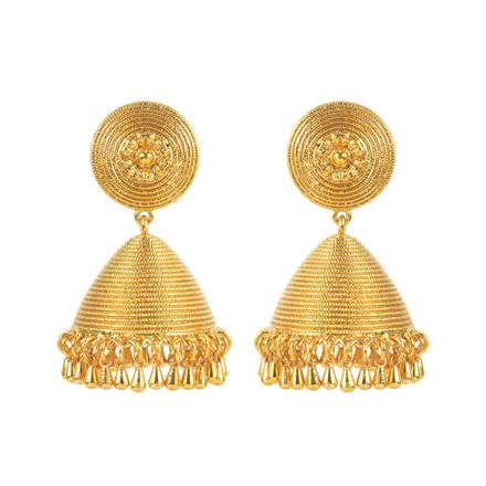 11643 Antique Jhumki with gold plating