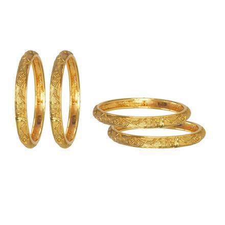 11645 Antique Plain Gold Bangles