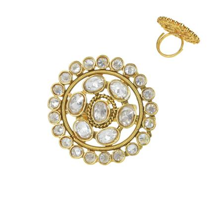 11647 Antique Classic Ring with gold plating