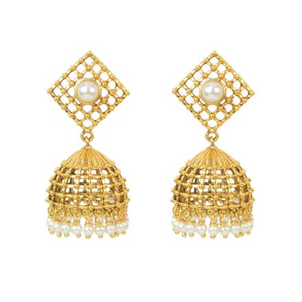 11648 Antique Jhumki with gold plating