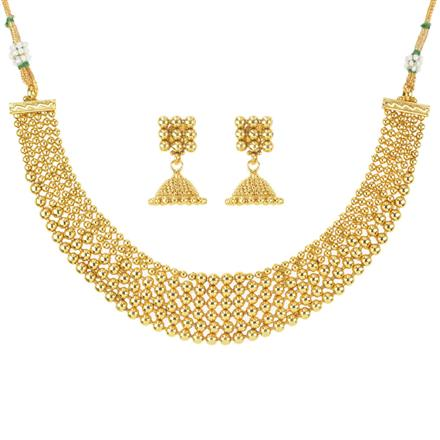 11649 Antique Plain Gold Necklace