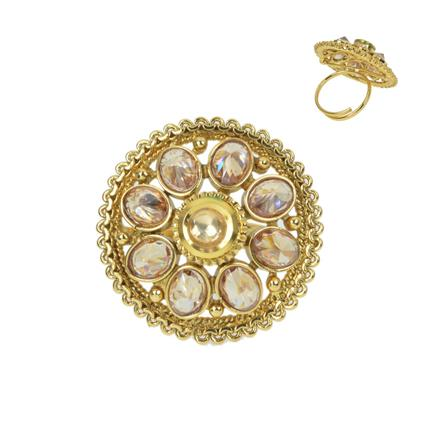 11651 Antique Classic Ring with gold plating