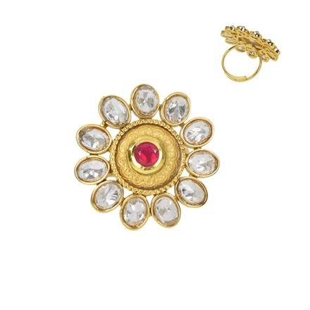 11653 Antique Classic Ring with gold plating