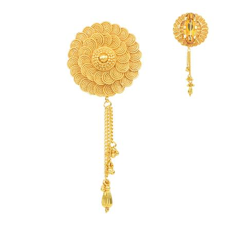 11665 Antique Plain Gold Brooch