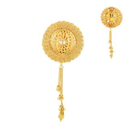 11666 Antique Plain Gold Brooch