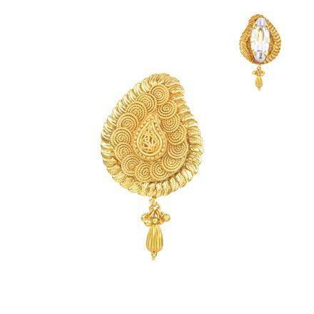 11667 Antique Plain Gold Brooch
