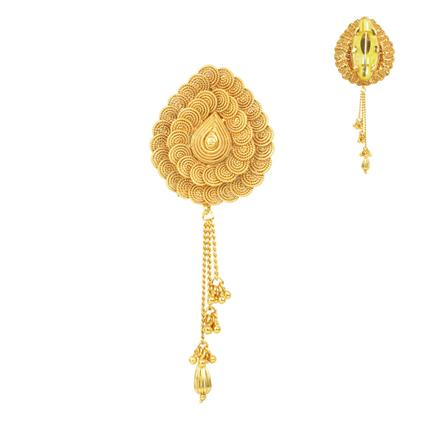 11668 Antique Plain Gold Brooch