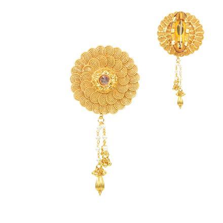 11671 Antique Plain Gold Brooch