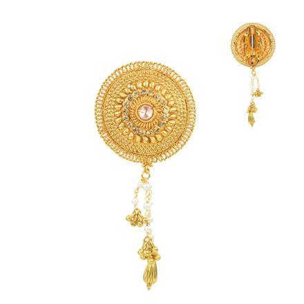 11673 Antique Plain Gold Brooch