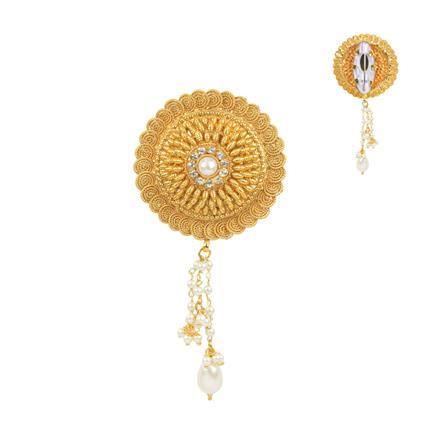 11675 Antique Plain Gold Brooch
