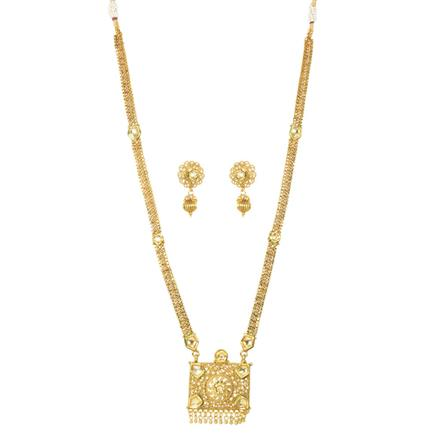 11677 Antique Long Necklace with gold plating