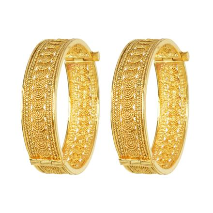 11681 Antique Plain Gold Bangles