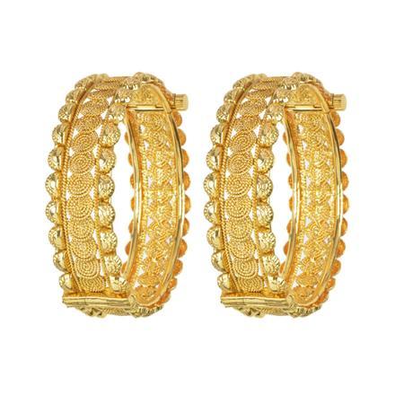 11682 Antique Plain Gold Bangles