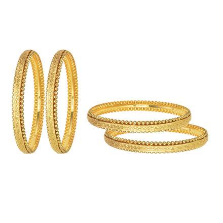 11685 Antique Plain Gold Bangles