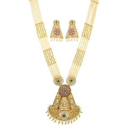 11703 Antique Mala Pendant Set with gold plating