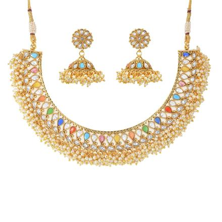 11706 Antique Classic Necklace with gold plating