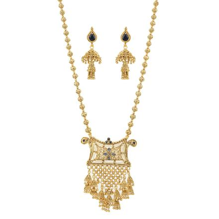 11710 Antique Mala Pendant Set with gold plating