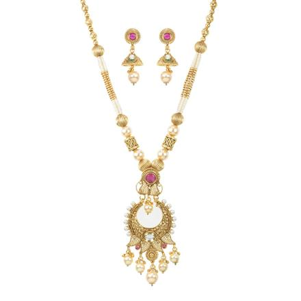 11711 Antique Mala Pendant Set with gold plating
