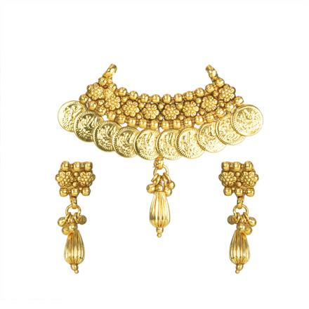 11713 Antique Temple Mangalsutra with gold plating