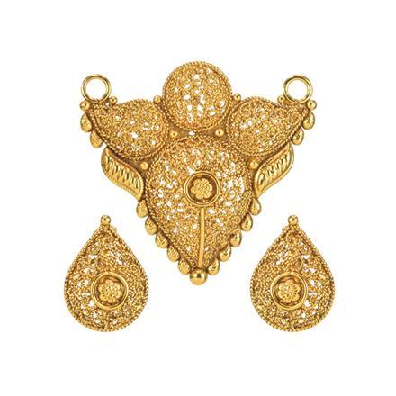 11715 Antique Plain Gold Mangalsutra