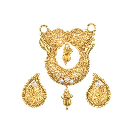 11716 Antique Plain Gold Mangalsutra